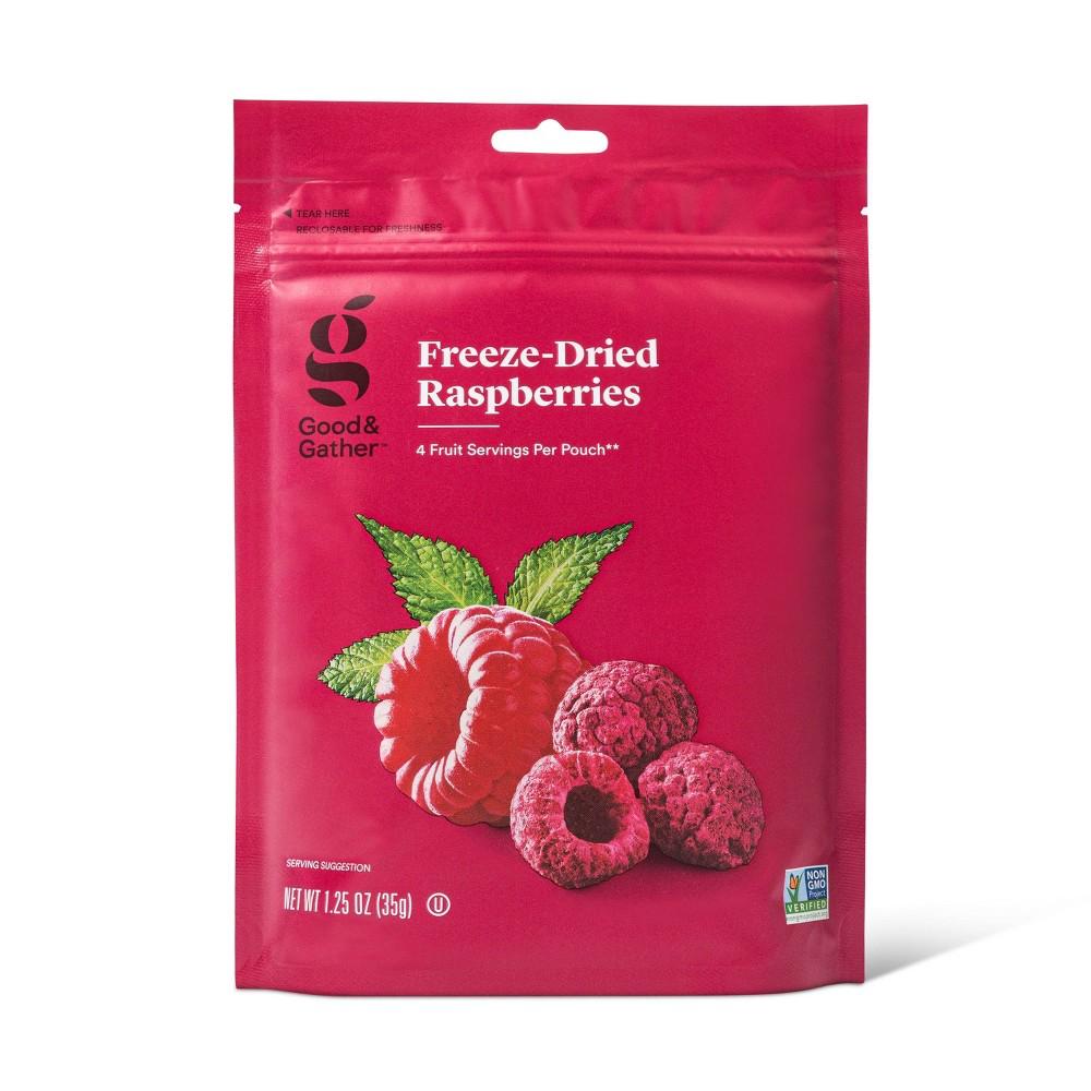 Freeze Dried Raspberries 1 25oz Good Gather 8482