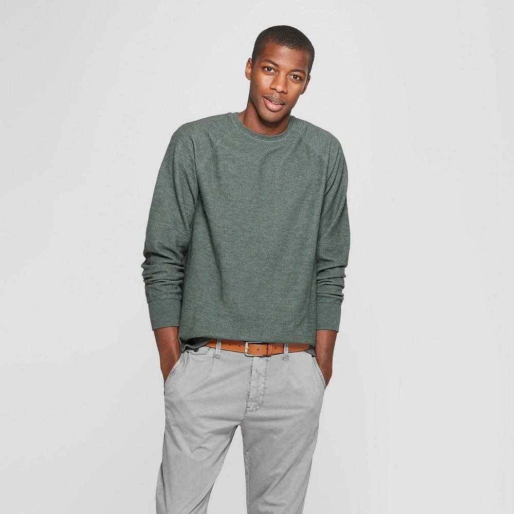 Men's Standard Fit Long Sleeve Textured Crew Neck Shirt - Goodfellow & Co Elegant Vine 2XL