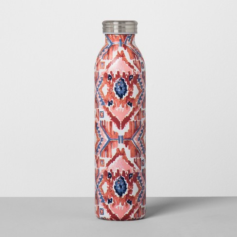 Stainless Steel Water Bottle 20oz - Tribal Peach and Blue - image 1 of 1