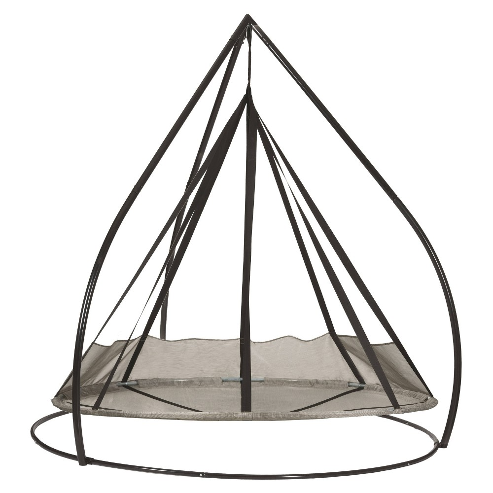 Image of 7' Flying Saucer Hanging Patio Hammock with Stand - Silver - FlowerHouse