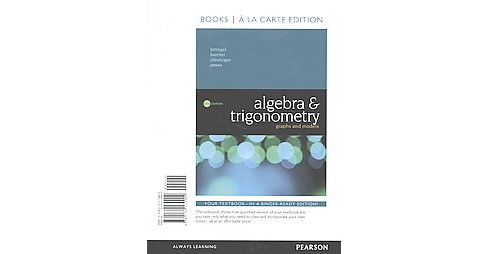 Algebra & Trigonometry : Graphs and Models (Student) (Paperback) (Marvin L. Bittinger & Judith A. - image 1 of 1