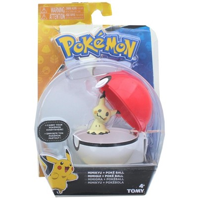 Tomy Pokemon Clip and Carry Poke Ball | 2 Inch Mimikyu and Poke Ball