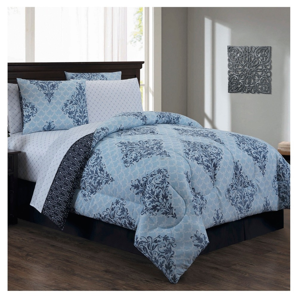 Blue Mari Bed in a Bag Set (Queen) 8pc