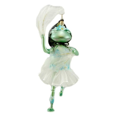 Christopher Radko Bella Froggie Ornament Feathers Dance - image 1 of 2