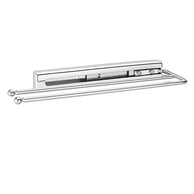 Rev-A-Shelf 563-51-C Under Cabinet Kitchen Bathroom Prong Pull-Out Extendable 2-Prong Towel Bar Organizer, Chrome