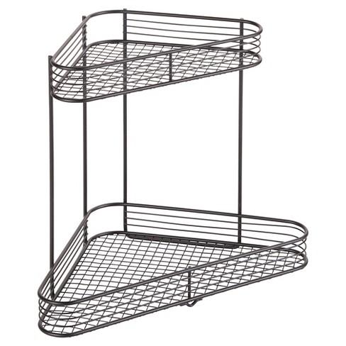 Bathroom Corner Storage Shelves 2 Tier Black Room Essentials Target