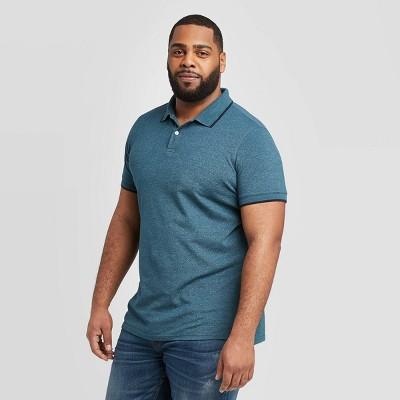 Men's Big & Tall Regular Fit Short Sleeve Pique Polo Shirt - Goodfellow & Co™
