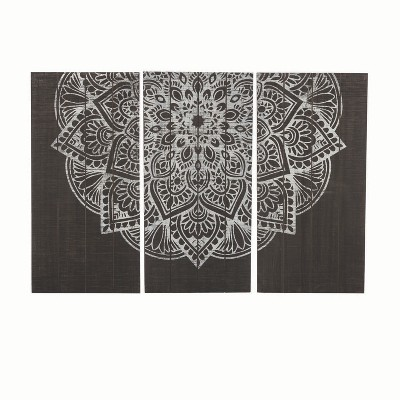 Henna Wall Art, Set Of 3   Foreside Home And Garden by Foreside Home And Garden