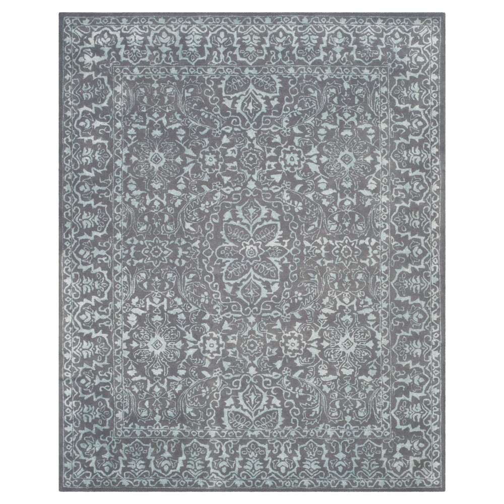 Opal/Gray Botanical Tufted Area Rug - (8'x10') - Safavieh, White/Gray