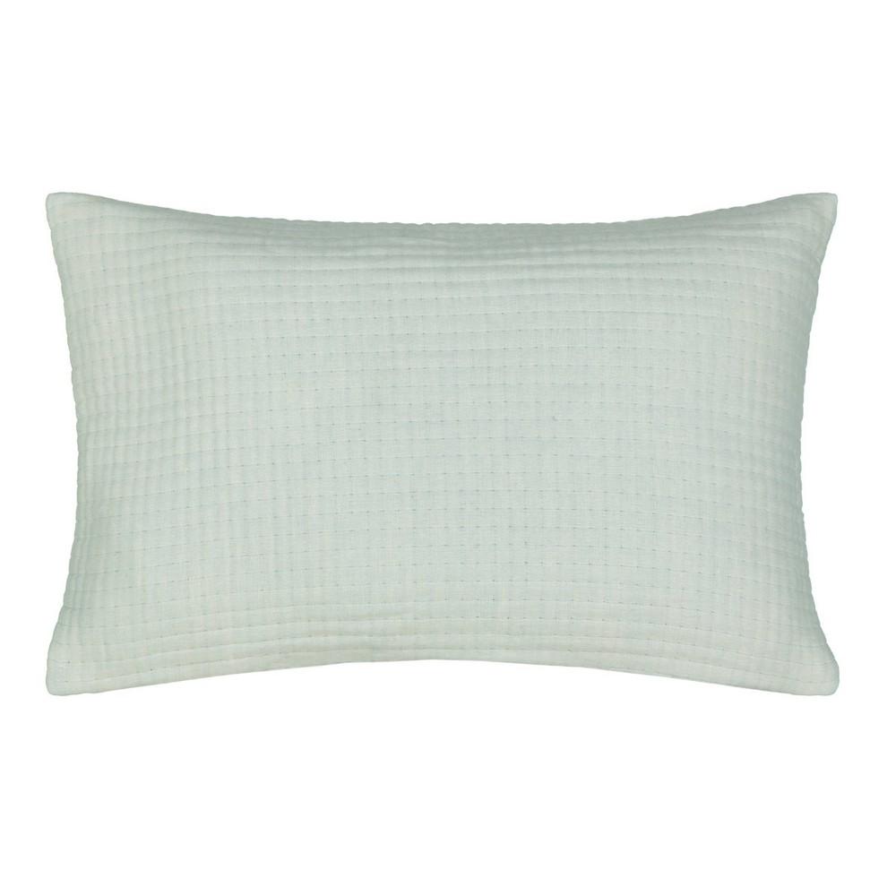 Waverly Kensington Bloom 14 34 X22 34 Throw Pillow Seafoam