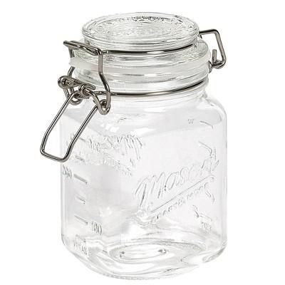 Mason Craft & More 12oz Set of 4 Mini Clamp Jars