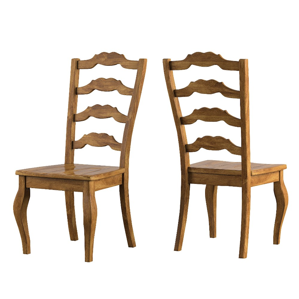 South Hill French Ladder Back Dining Chair (Set Of 2) - Oak (Brown) - Inspire Q