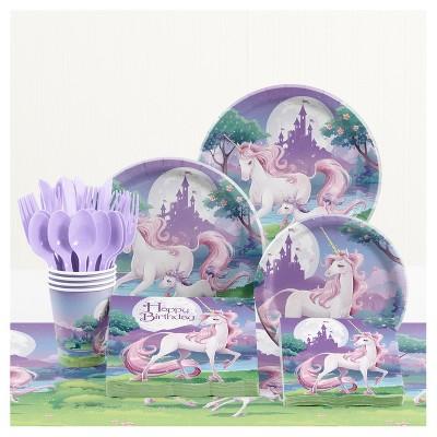Unicorn Fantasy Birthday Party Supplies Kit
