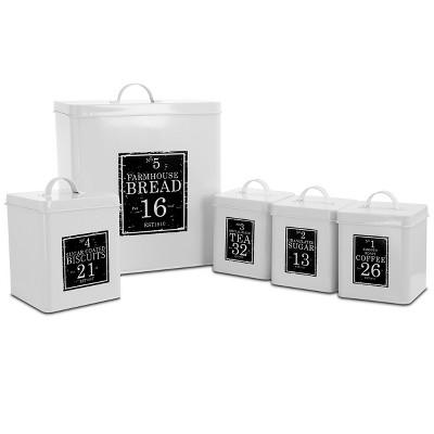 MegaChef Kitchen Food Storage and Organization 5 Piece Cannister Set