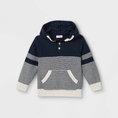 Toddler Boys' Knit Hoodie Pullover Sweater - Cat & Jack™ Navy