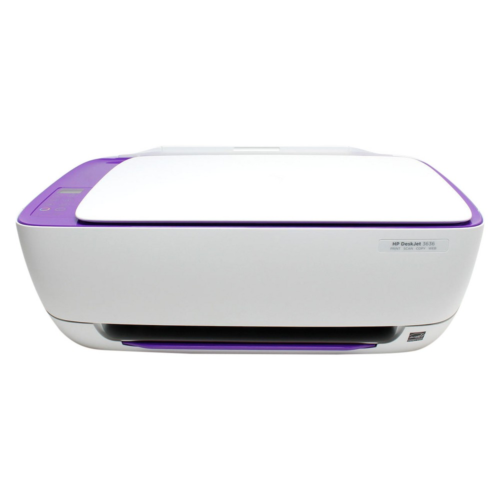 HP DeskJet 3636 Color Inkjet All-in-One Printer - Purple (Pre-Owned/Certified - No Ink Included) Print, scan and copy effortlessly with the Pre-owned/Certified DeskJet 3636 All-in-One Printer/Copier/Scanner from HP. This innovative all-in-one printer has a space-saving design and keeps your desk clutter-free. With a speed of 8.5 pages per minute it is compatible with smartphones and electronic tablets as well. This device is pre-owned/certified and comes with 90 day limited warranty. Color: Purple.