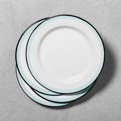 Enamel Dinner Plate Set of 4 - Black/Cream - Hearth & Hand™ with Magnolia