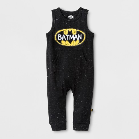 9ae40617a472 Baby Boys  DC Comics Batman Sleeveless Coveralls with Kangaroo Pocket -  Black