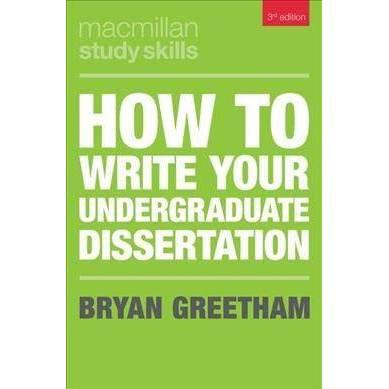 bryan greetham dissertation
