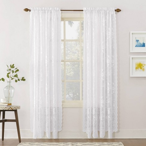 Alison Lace Sheer Rod Pocket Curtain Panel – No. 918 - image 1 of 4