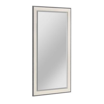 "29.5"" x 53.5"" Textured Mat Liner Frame Mirror Gray - Head West"
