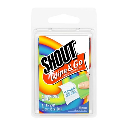 Shout Wipe & Go Instant Stain Remover - 4ct