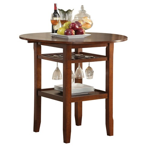 Tartys Counter Height Dining Table - Cherry - Acme