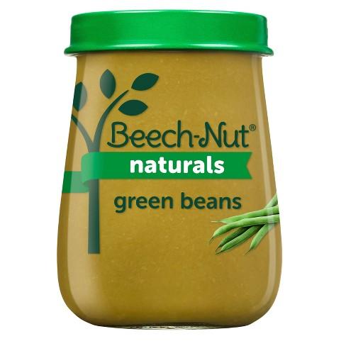 Beech-Nut Naturals Green Beans Baby Food Jar - 4oz - image 1 of 4