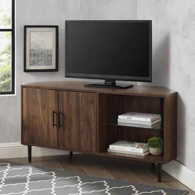"Contemporary Corner TV Stand for TVs up to 55"" - Saracina Home"