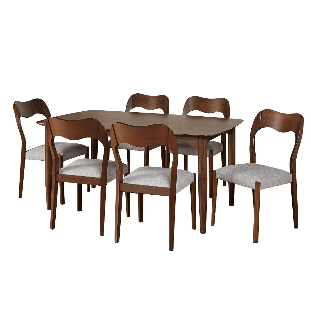7pc Hana Dining Set - Walnut (Brown) - Buylateral
