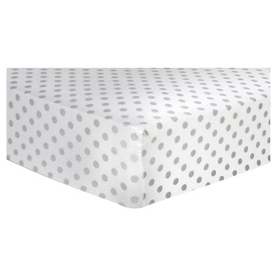 Trend Lab Deluxe Flannel Fitted Crib Sheet - Gray Dot