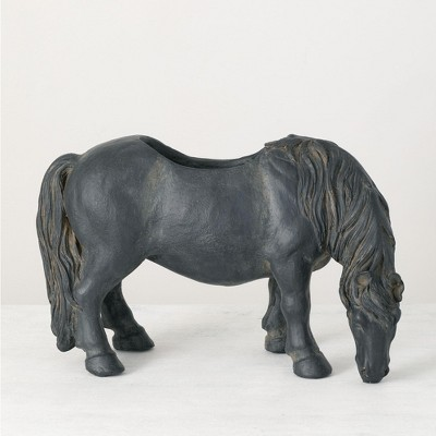 "Sullivans Pony Planter 12""H Black"