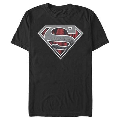 Men's Superman Logo Grunge T-Shirt