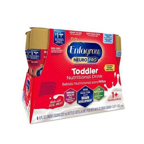 Enfagrow NeuroPro Non-GMO, Toddler Next Step Ready-to-Feed Milk - 6ct/8 fl oz Each - image 1 of 3