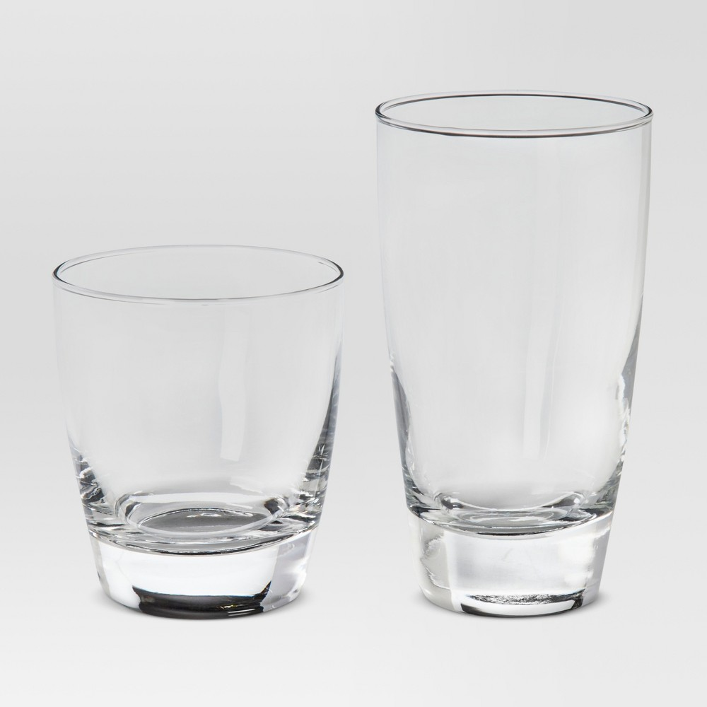 Image of 12pc Glass Sherbrook Assorted Tumblers - Threshold , Clear