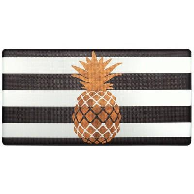 "Nicole Miller 20"" x 39"" New York Gold Pineapple Kitchen Mat"
