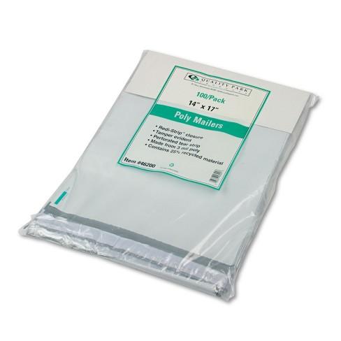 Quality Park Redi Strip Poly Mailer 14 x 17 White 100/Box 46200 - image 1 of 4