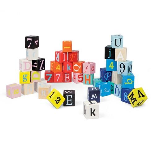 janod kubix 40 letters numbers block target