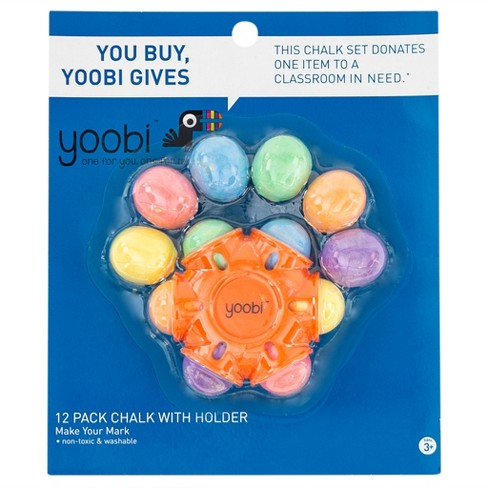 Yoobi™ Star Chalk Holder with 1 Chalk Holder and 12 Chalk pc - Multicolor (13pk) - image 1 of 3