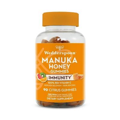 Wedderspoon Manuka Honey Immunity Gummies - Citrus - 90ct