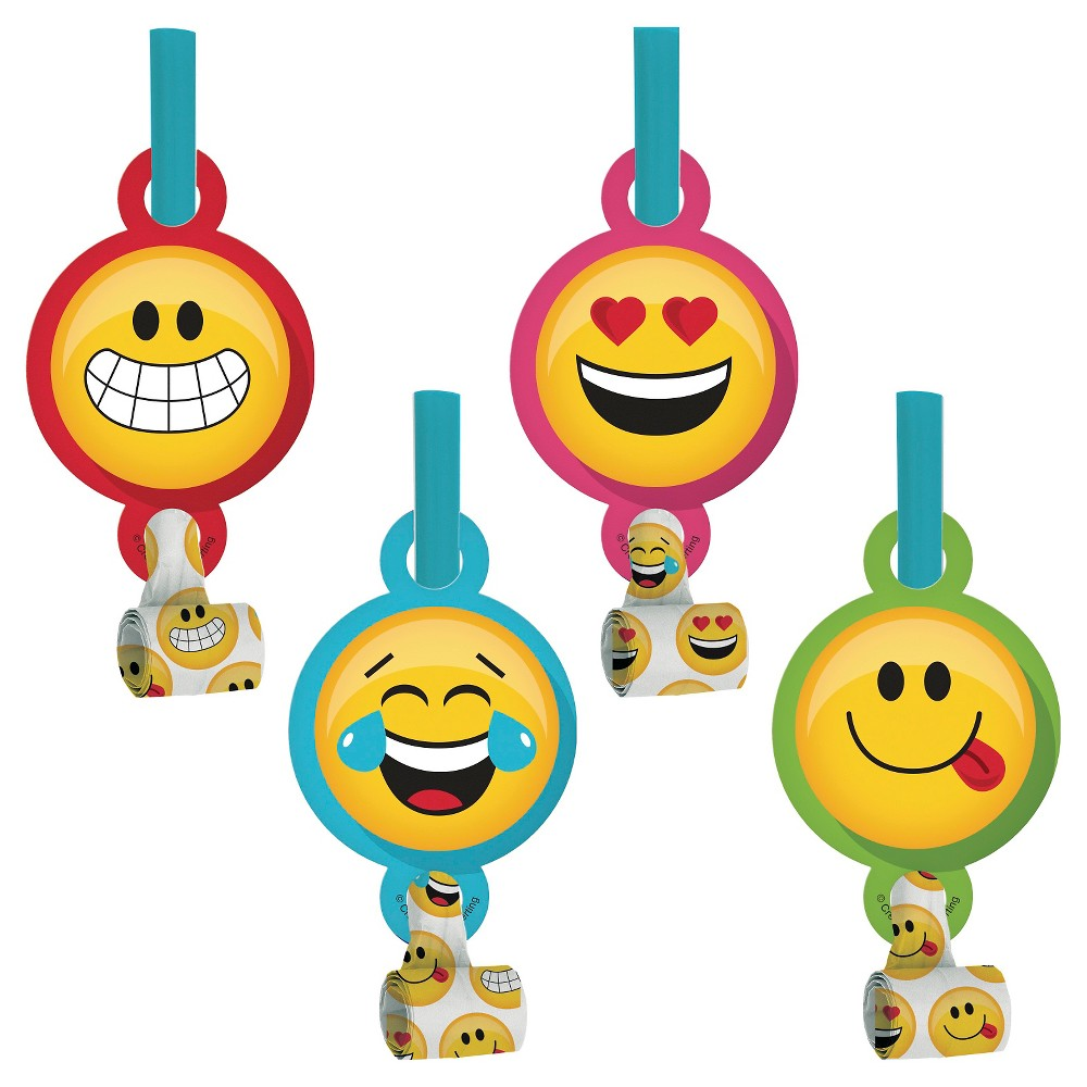 Show Your Emojions Party Blowers, 8 pk