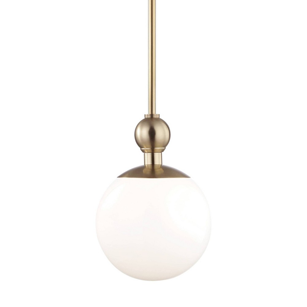 Daphne 1-Light Small Pendant Chandelier Aged Brass - Mitzi by Hudson Valley Price