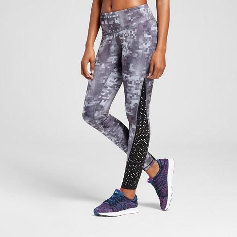 66eb4660205f Women s Embrace Laser Cut Leggings - C9 Champion® Black Gray Glitch Print XS
