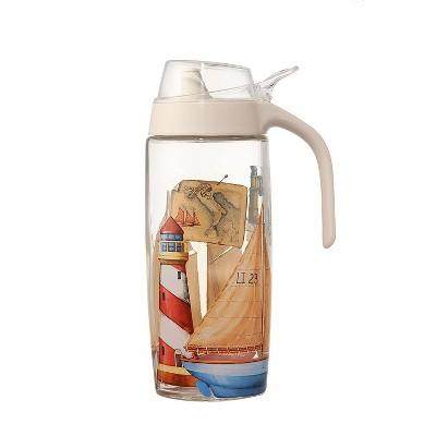 Juvale Olive Oil Dispenser Glass Cruet Bottle Dispenser 16 oz 500ml for Salad Dressing, Oil, Vinegar