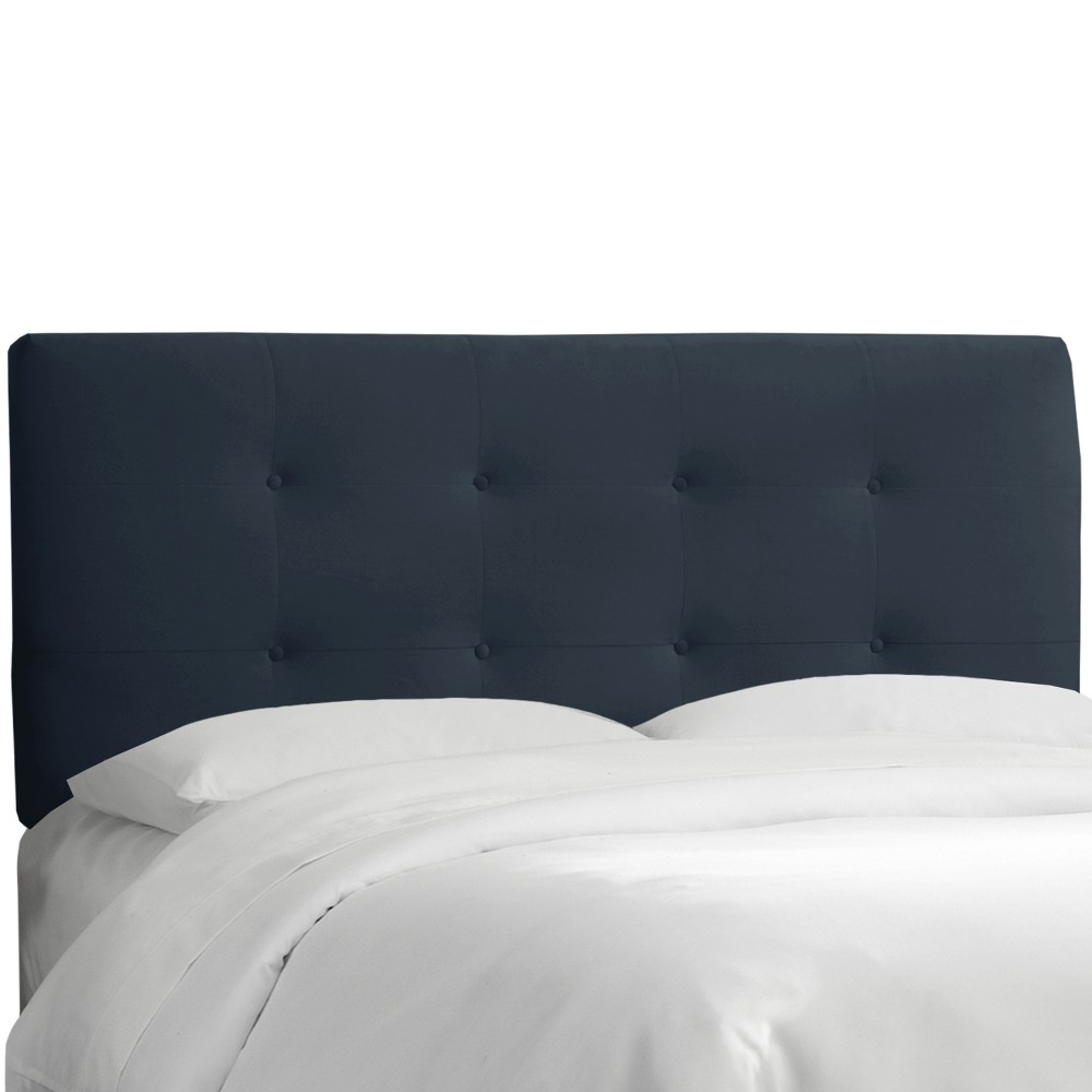 California King Dolce Headboard Navy Velvet - Cloth & Co.
