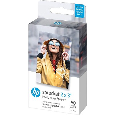 """HP Sprocket 2x3"""" Premium Zink Sticky Back Photo Paper Compatible with HP Sprocket Photo Printers."""
