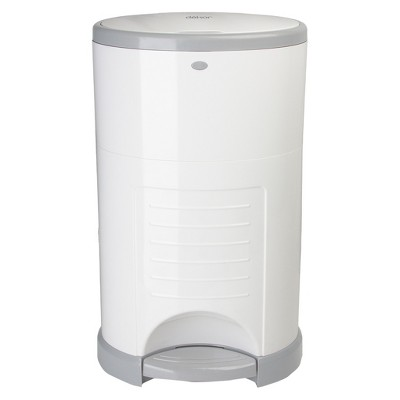Dekor Mini Hands Free Diaper Pail - White