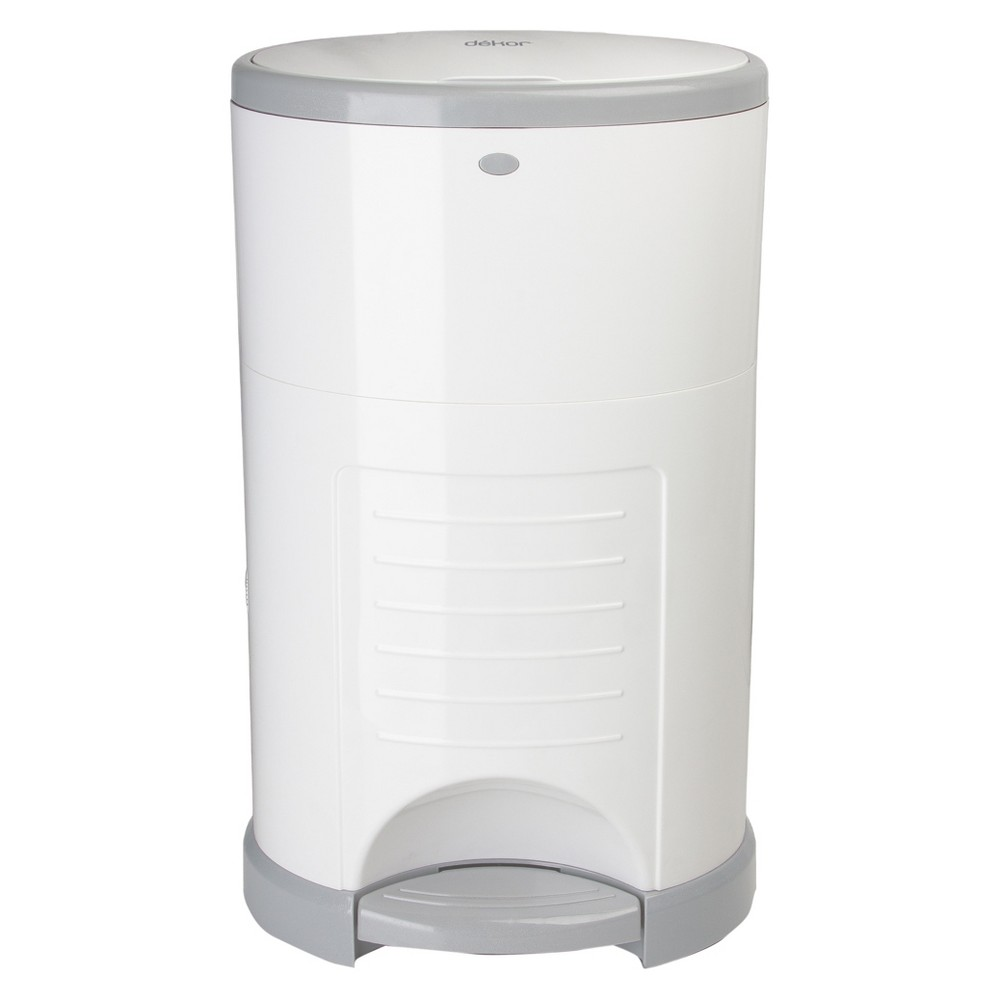 Image of Dekor Mini Hands Free Diaper Pail - White