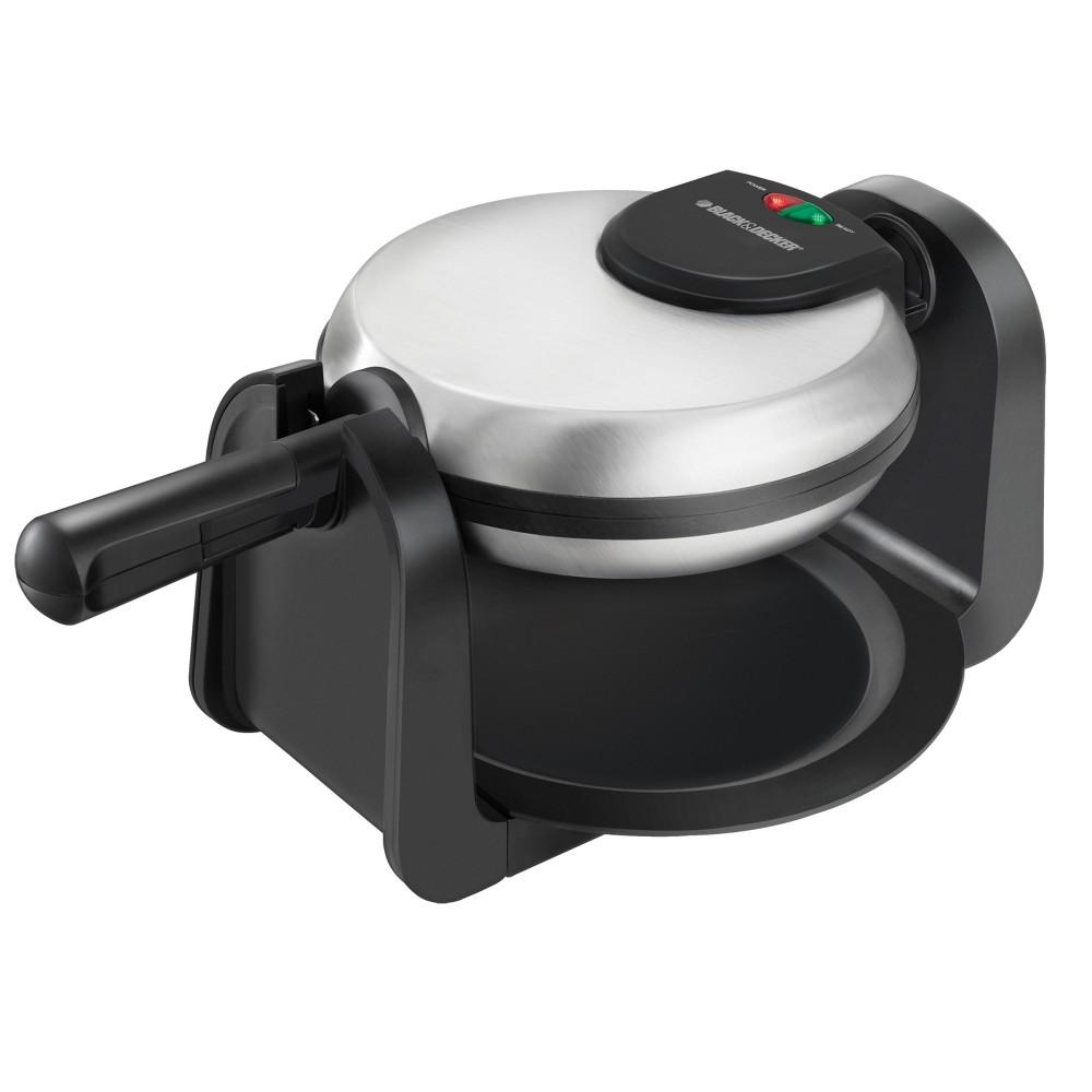 Black+decker Belgian Flip Waffle Maker – Black WM1404S, Black/Silver 14078078