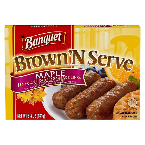 Banquet Frozen Brown'N Serve Frozen Maple Links - 6.4oz - image 1 of 1